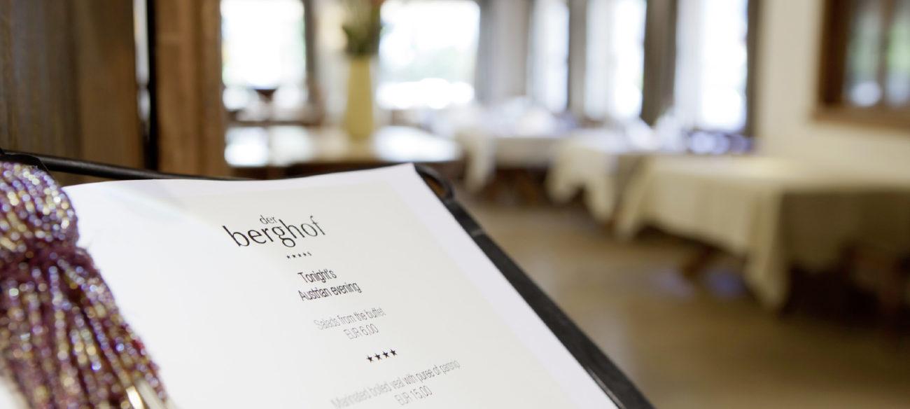 Restaurant Berghofstüble in Lech