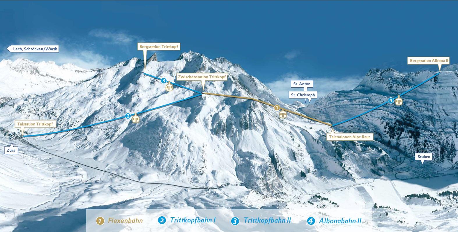 Die neue Flexenbahn verbindet Lech-Zürs mit St. Anton