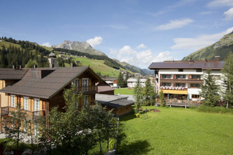 Aussicht Zimmer Arlberg/Karhorn im Berghof, Lech
