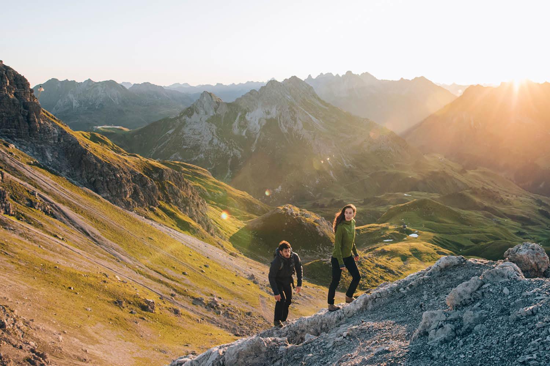 Gipfelanstieg Wandern am Arlberg